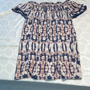 Off the shoulder rustic knee high dress